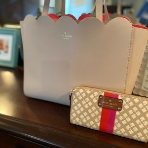 Kate Spade Carrigan Scalloped tote and wallet